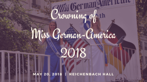 Crowning of Miss German-America 2018