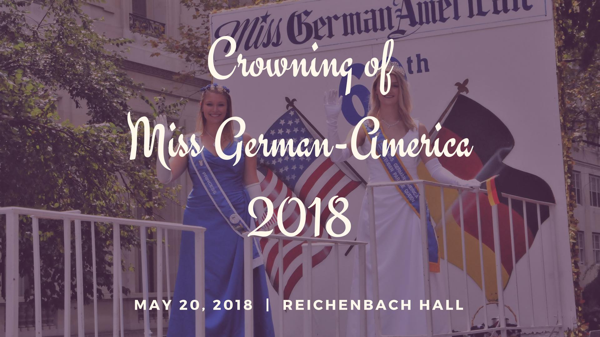 Crowning of Miss German-America 2018